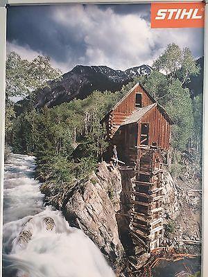 "Stihl Poster ""Haus am Fluss"" 59,4 x 84,1 cm"