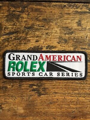 Vtg Grand American Rolex Embroidered Sew On Patch Sports Car Series Racing Badge