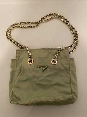 Prada Vintage Quilted Purse (Lime Green)