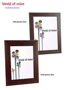 Cornice legno da appendere arte povera da parete per foto for Stampe da appendere