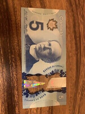 CANADA 5 DOLLARS Banknotes, Used Condition, Canadian, Bank Note, Single Note