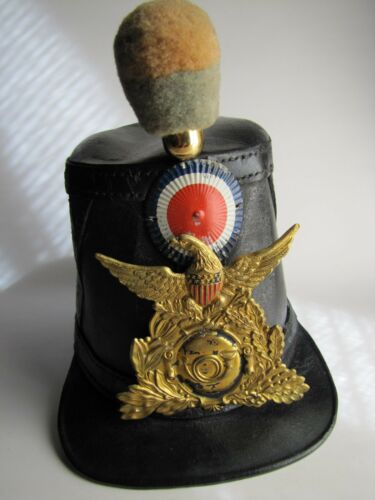 US Civil War Union Infantry Leather Shako-Federal Chasseur Pattern