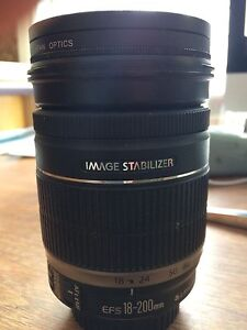 Canon EFS 18-200mm IS lens with CPL filter and UV filter