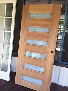 Entrance front glass door translucent Cornubia Logan Area Preview