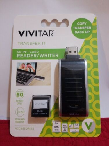 New Vivitar 50 in 1 Card Reader & Writer