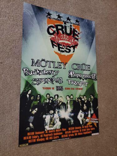MOTLEY CRUE Cruefest concert poster 11x17