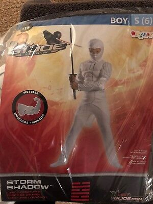 Halloween Costume Gi Joe Storm Shadow Small 4-6 - Storm Costume Halloween