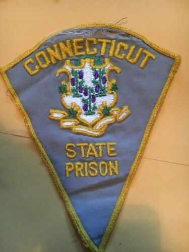STATE PRISON CONNECTICUT  POLICE PATCH