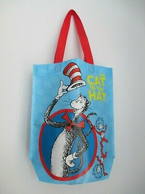 Dr Seuss Tote Bags (THE CAT IN THE HAT Dr. Seuss Blue Vinyl Shopper Gift Lunch Small Tote Bag 12
