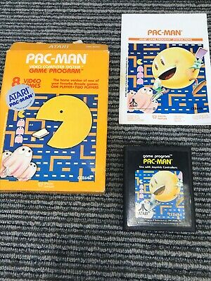 Pac-Man (Atari 2600, 1982) Complete CIB Box & Manual