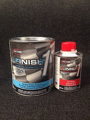 Sherwin Williams Fc720 Finish 1 Clear Coat Kit With Fast Hardener  Quart Kit