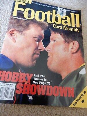 Monthly Hobby Magazine - BECKETT FOOTBALL CARD MONTHLY MAGAZINE HOBBY SHOWDOWN FAVRE ELWAY JAN 1999