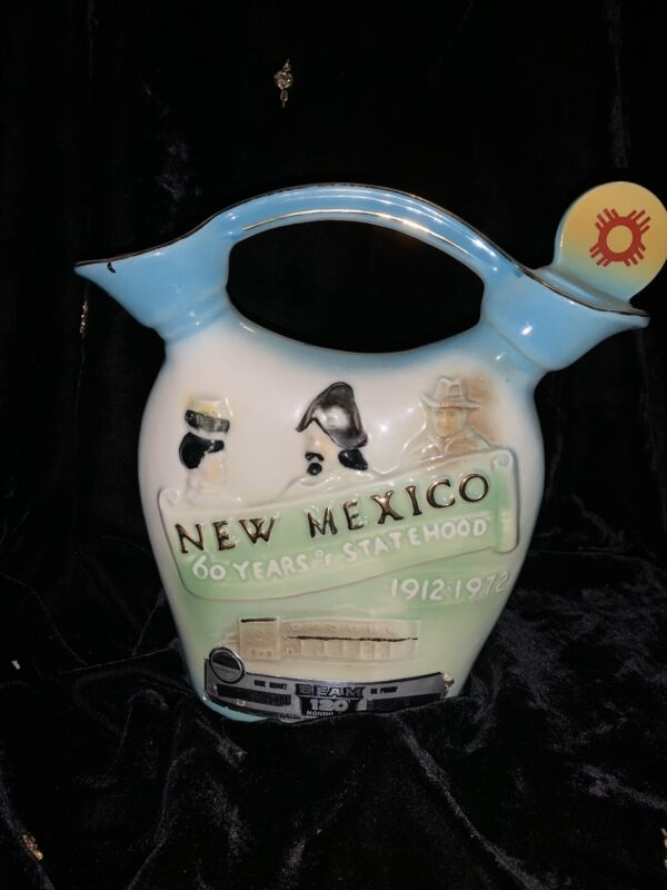 New Mexico State Decanter 1972 60 Years Statehood Commemorative Jim Beam