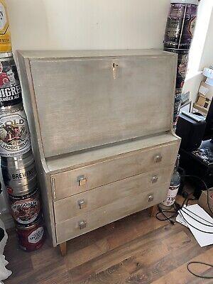 Painted shabby chic writing bureau desk, Cocktail Cabinet, Sorage draws