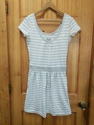 Abercrombie & Fitch Women's Striped Dress Short Jumper Size L SOFT Cotton Blend