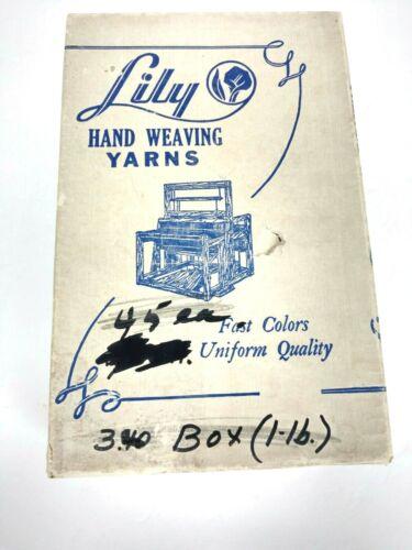 Lily Hand Weaving Knitting Crocheting Embroidery Yarns Black Cotton USA Vintage