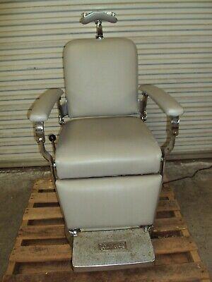 Reliance Koenigkramer Barber Chair Antique Vintage Electric Optometry Exam