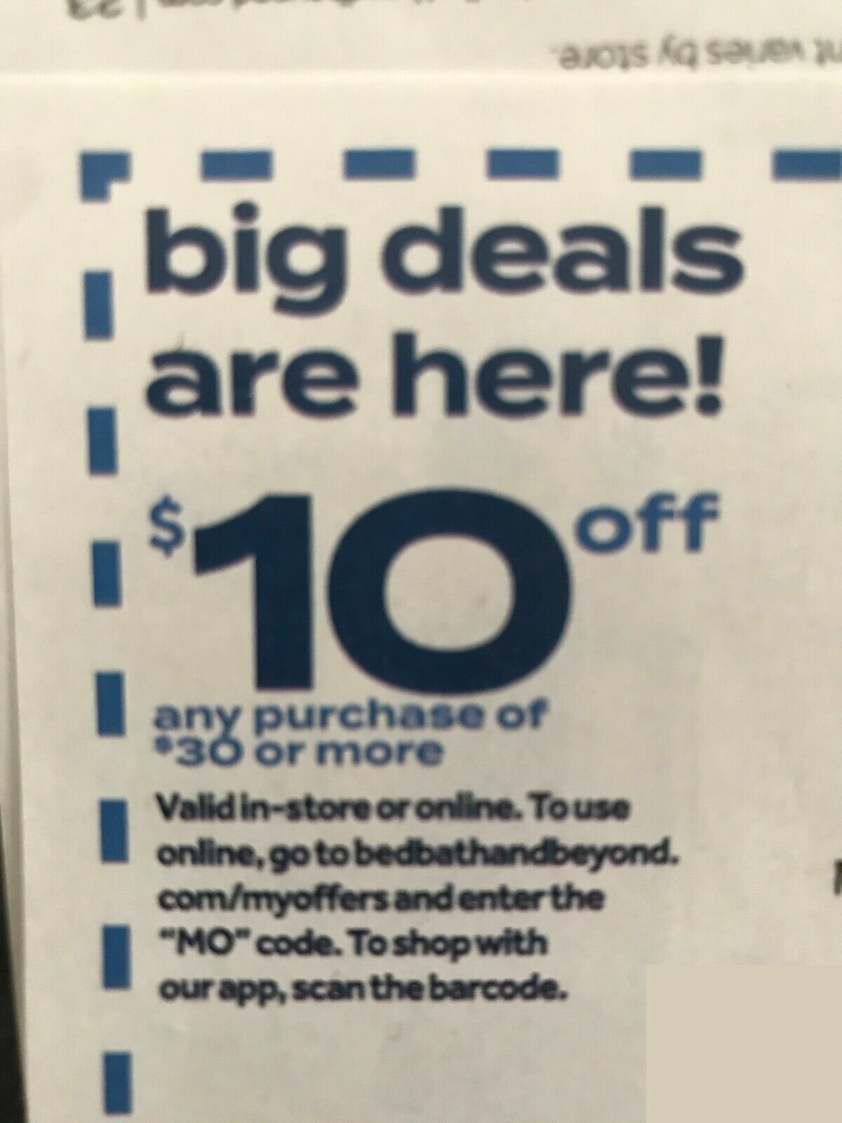 BED BATH BEYOND ONLINE COUPON 10 OFF 30 Expires 11/23/2020 - $1.25