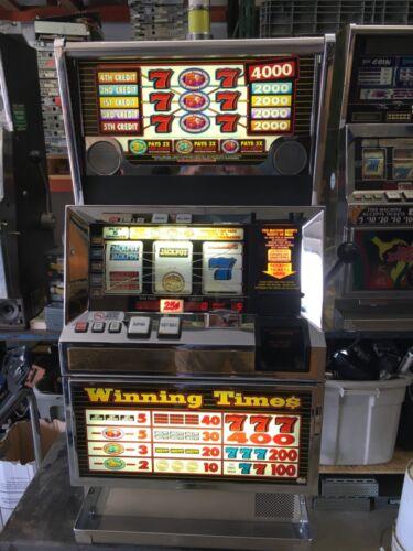 Bally 6000 Winning Times 5 line  5 coin SLOT MACHINE