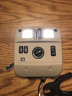 04-07 CADILLAC SRX FRONT OVERHEAD CENTER CONSOLE MAP LIGHT WIPER SWITCH TAN OEM
