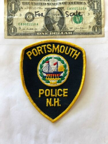 Portsmouth New Hampshire Police Patch un-sewn in great shape