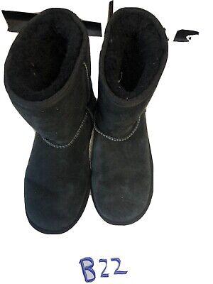 UGG AUSTRALIA KIDS CLASSIC II SHORT 1017703K BLACK SIZE 4 GIRLS AUTHENTIC BOOTS