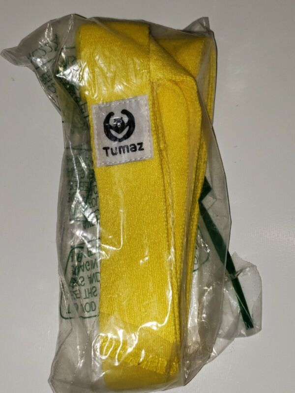 TUMAZ YOGA STRAP (kt8), Yellow--New, no Packaging