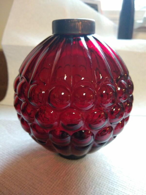 Red Grape Glass Lightning Rod Ball Roof Home Cabin Decor weathervane  globe