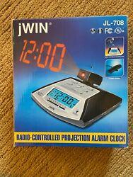 jWIN JL-708 Radio-Controlled Projection Alarm Clock Radio (AM/FM)