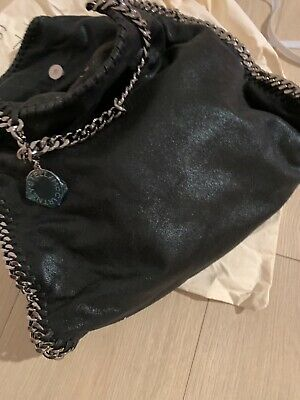 Stella McCartney Falabella Foldover bag Black Faux Suede