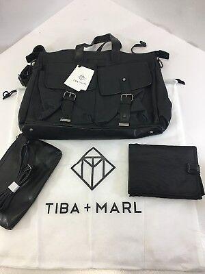 TIBA & MARL UNISEX JAMES MULTIPURPOSE SATCHEL BLACK NWT