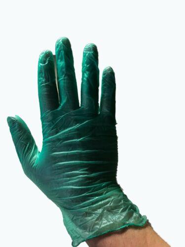100 Green Powdered Gloves Vinyl Latex Foodservice Grade (Non Nitrile Exam) Large