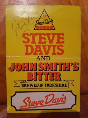 Steve Davis autograph on Photo John Smiths Courage Snooker.