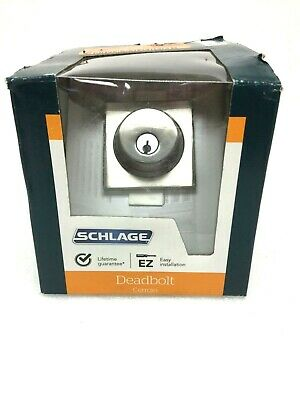 Schlage Lock Co B60ncol619 Single Cylinder Deadbolt W Collins Trim Satin Nickel