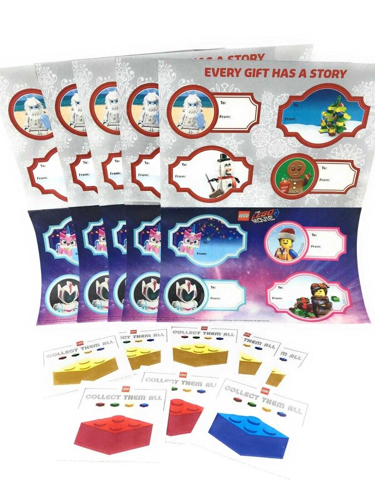 5 Sheets Lego Gift Tag stickers  PLUS 8 Lego Brick Decal Sti