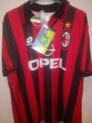 AC MILAN 1995-1996 BNWT Opel shirt camiseta maillot trikot maglia lotto