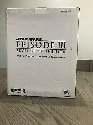 Star Wars Best Buy Movie Poster Sculpture Episode III REVENGE OF THE SITH Code
