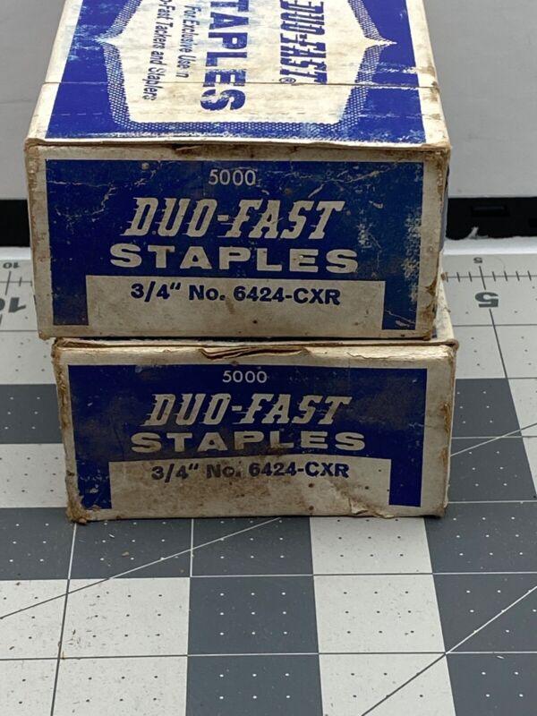 """Vintage Duo-Fast 3/4"""" No. 6424-CXR Staples  Lot  2 Boxes"""