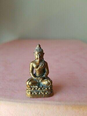 Meditation Buddha ~ 3 cm Long... Brass mini statue ~