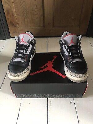 Nike Air Jordan '3' Black/cement UK 8