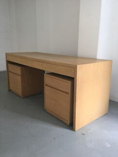 Modern Desk and Filing Cabinets