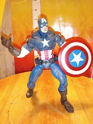"Marvel Legends Toybiz Series 8 VIII Ultimate Captain America 6"" Avengers figure"