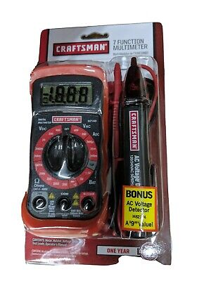 Craftsman 3482146 Compact Multimeter Kit W Ac Voltage Detector Pen Bundle Nib