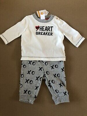 Gymboree Baby Boy Heartbreaker Outfit Set Shirt & Pants