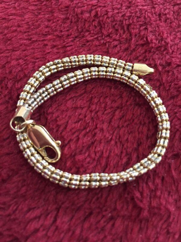 Yellow Gold Ice Bracelet 10 Kt Lobster Lock 7.4 Grams Scrap Or Wear 4 mm