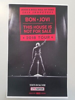Bon Jovi 11x17 This Home Is Not For Sale promo tour concert postertickets
