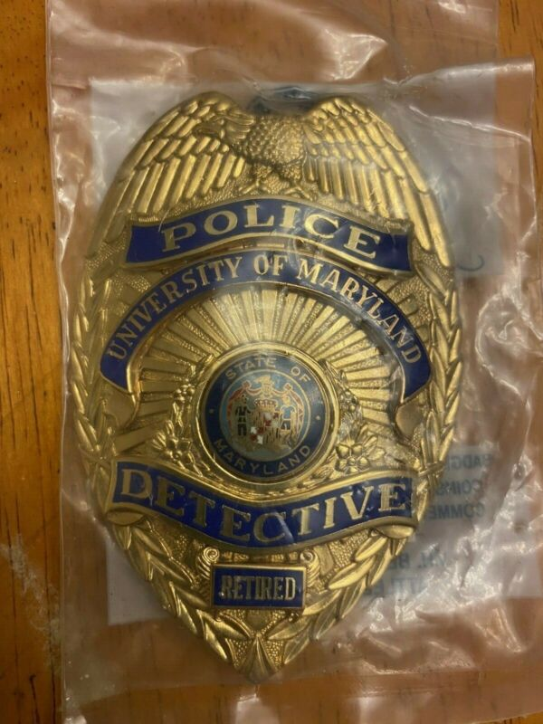 University of Maryland Police Detective Retired MD MDPD