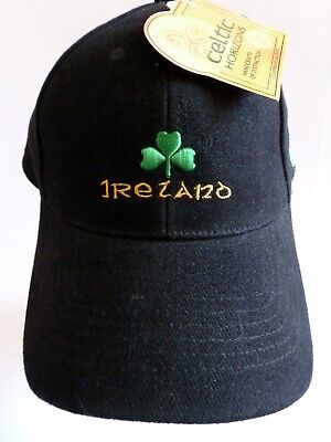 NEW with Tags Ireland Baseball Cap Hat Celtic Horizons Wool Adjustable One Size