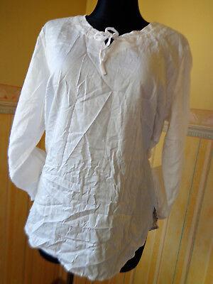 Baumwolle Extra Langes Tunika (Damen BluseTunika Walbusch extraglatt Gr. 44  dünn langarm neu  weiß)