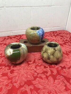 Bird Brain Firepot Hand Glazed Ceramic Fire Pot Drip Glaze Indoor/Outdoor Use ()